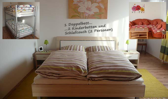 Schlafmöglichkeiten Fewo Grafenau
